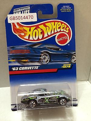 (TAS030998) - Mattel Hot Wheels Car - '63 Corvette, , Cars, Hot Wheels, The Angry Spider Vintage Toys & Collectibles Store
