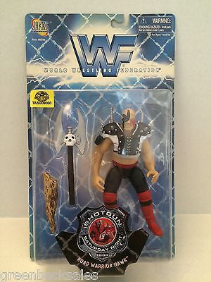 (TAS009050) - 1998 Jakks WWF Shotgun Saturday Night Figure - Road Warrior Hawk, , Other, JAKKS Pacific, The Angry Spider Vintage Toys & Collectibles Store  - 1