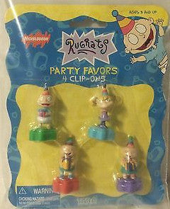 (TAS000025) - 1998 Nickelodeon Rugrats Party Favors - 4 Clip-Ons, , Party, Nickelodeon, The Angry Spider Vintage Toys & Collectibles Store