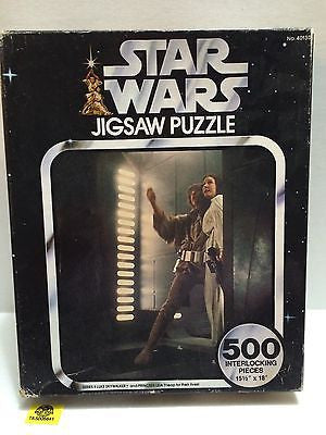 (TAS005641) - 500 Piece Star Wars Jigsaw Puzzle - Luke Skywalker & Princess Leia, , Puzzle, Star Wars, The Angry Spider Vintage Toys & Collectibles Store