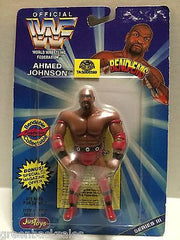 (TAS008399) - WWF WWE WCW nWo Wrestling JusToys Bend-Ems Figure - Ahmed Johnson, , Action Figure, Wrestling, The Angry Spider Vintage Toys & Collectibles Store