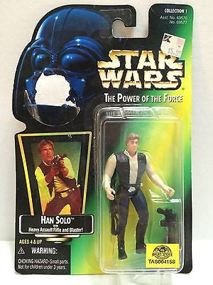 (TAS004158) - Star Wars The Power of the Force Figure - Han Solo, , Action Figure, Star Wars, The Angry Spider Vintage Toys & Collectibles Store