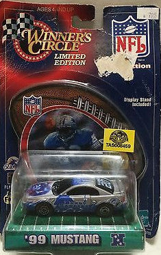 (TAS008459) - NFL NASCAR Winner's Circle '99 Mustang - Barry Sanders, , Trucks & Cars, NFL, The Angry Spider Vintage Toys & Collectibles Store