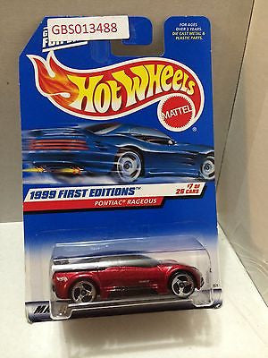 (TAS030954) - Mattel Hot Wheels Car - Ponitac Rageous, , Cars, Hot Wheels, The Angry Spider Vintage Toys & Collectibles Store