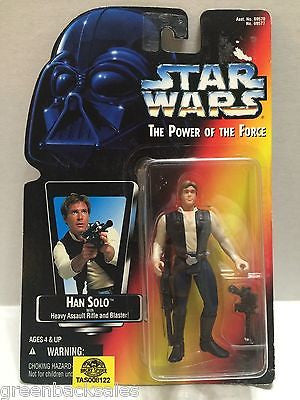 (TAS008122) - Hasbro Star Wars Power of the Force Figure - Han Solo, , Action Figure, Star Wars, The Angry Spider Vintage Toys & Collectibles Store