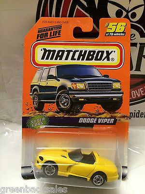 (TAS031515) - Matchbox Toy Car - Dodge Viper, , Cars, Matchbox, The Angry Spider Vintage Toys & Collectibles Store