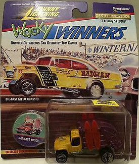 (TAS003410) - Johnny Lightning Wacky Winners - Garbage Truck, , Trucks & Cars, Johnny Lightning, The Angry Spider Vintage Toys & Collectibles Store