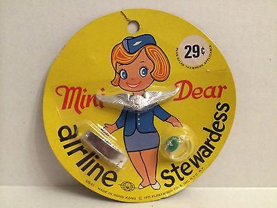 (TAS000007) - 1971 Fleetwood Toys - Mini Dear Airline Stewardess, , Clothing & Accessories, n/a, The Angry Spider Vintage Toys & Collectibles Store