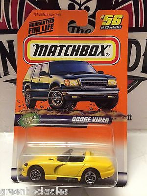 (TAS031522) - Matchbox Toy Car - Dodge Viper, , Cars, Matchbox, The Angry Spider Vintage Toys & Collectibles Store