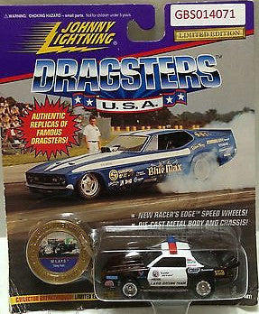 (TAS031549) - Playing Mantis Johnny Lightning Dragsters USA Car - '92 L.A.P.D., , Trucks & Cars, Johnny Lightning, The Angry Spider Vintage Toys & Collectibles Store
