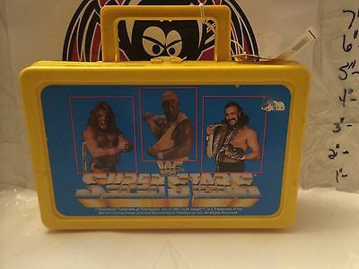 (TAS030486) - 1991 WWF WWE LJN Wrestling Superstars Pencil Box - Hogan Warrior S, , pencil, Wrestling, The Angry Spider Vintage Toys & Collectibles Store