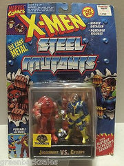 (TAS008576) - Toy Biz Marvel X-Men Steel Mutants Figure - Juggernaut vs Cyclops, , Action Figure, X-Men, The Angry Spider Vintage Toys & Collectibles Store