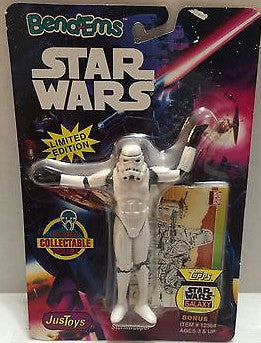 (TAS000459) - Star Wars Bend-ems JusToys - Stromtrooper, , Action Figure, Star Wars, The Angry Spider Vintage Toys & Collectibles Store
