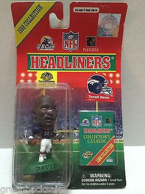 (TAS008006) - MLB NBA NFL NHL Headliners Sports Figure -Terrell Davis, , Action Figure, NFL, The Angry Spider Vintage Toys & Collectibles Store
