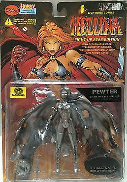 (TAS006815) - Skybolt Lightning Comics - Pewter Light Up Eyes Hellina, , Action Figure, n/a, The Angry Spider Vintage Toys & Collectibles Store