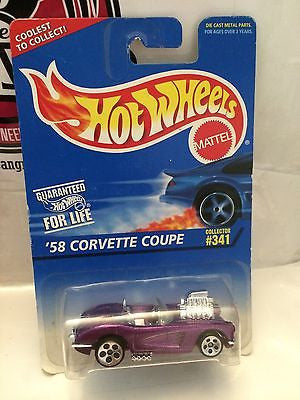 (TAS004745) - Hot Wheels '58 Corvette Coupe - Collector #341, , Cars, Hot Wheels, The Angry Spider Vintage Toys & Collectibles Store