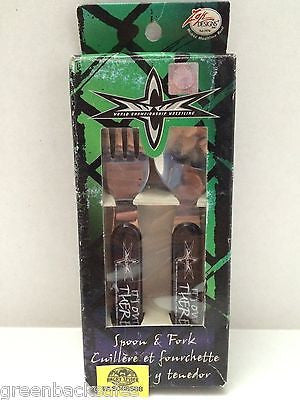 (TAS006588) - WWE WWF WCW Wrestling Spoon & Fork Set, , Other, Wrestling, The Angry Spider Vintage Toys & Collectibles Store