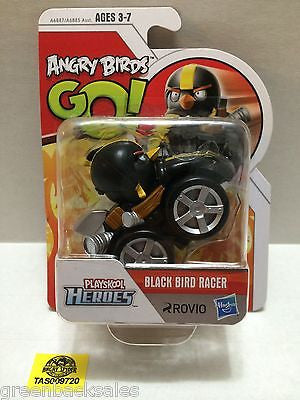 (TAS009720) - Hasbro Playskool Heroes - Angry Birds GO! - Black Bird Racer, , Action Figure, Angry Birds, The Angry Spider Vintage Toys & Collectibles Store