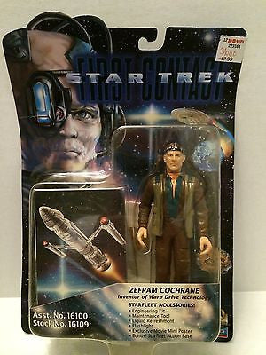 (TAS031304) - Playmates - Star Trek First Contact - Zefram Cochrane, , Action Figure, Star Trek, The Angry Spider Vintage Toys & Collectibles Store