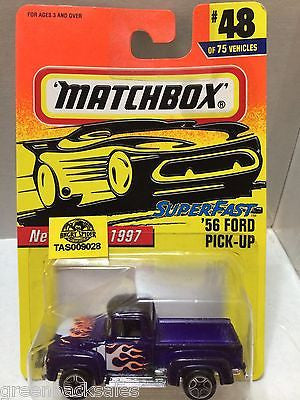 (TAS009028) - 1997 Matchbox Die-Cast Cars - '56 Ford Pick-Up #48, , Cars, Matchbox, The Angry Spider Vintage Toys & Collectibles Store