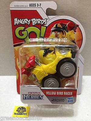 (TAS009701) - Playskool Heroes Angry Birds Go! - Yellow Bird Racer, , Action Figure, Angry Birds, The Angry Spider Vintage Toys & Collectibles Store