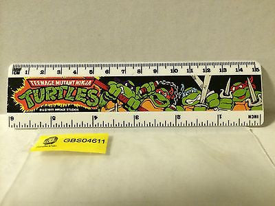"(TAS030520) - 1989 Mirage Studios TMNT - 6"" Turtles Ruler, , Ruler, TMNT, The Angry Spider Vintage Toys & Collectibles Store"