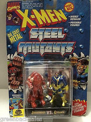 (TAS006424) - Marvel Comics X-Men Steel Mutants - Juggeranut vs. Cyclops, , Action Figure, X-Men, The Angry Spider Vintage Toys & Collectibles Store