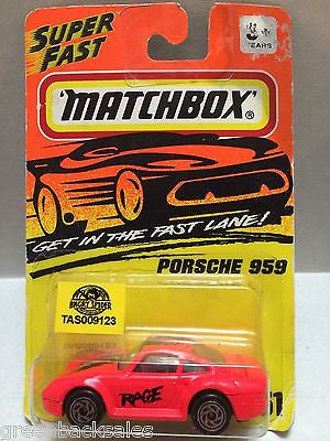 "(TAS009123) - Matchbox Die-Cast Car - Porshe 959 ""Rage"", , Cars, Matchbox, The Angry Spider Vintage Toys & Collectibles Store"