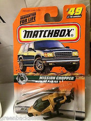 (TAS031519) - Matchbox Toy Car - Mission Chopper, , Cars, Matchbox, The Angry Spider Vintage Toys & Collectibles Store