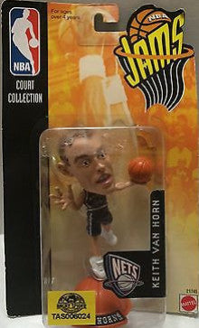 (TAS006024) - Mattel NBA Jams Mini Figure - New Jersey Nets - Keith Van Horn, , Action Figure, NBA, The Angry Spider Vintage Toys & Collectibles Store