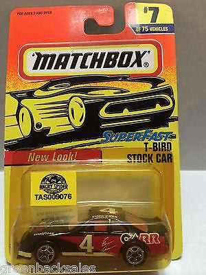 (TAS009076) - Matchbox Die-Cast Car - T-Bird Stock Car #7 of 75, , Cars, Matchbox, The Angry Spider Vintage Toys & Collectibles Store