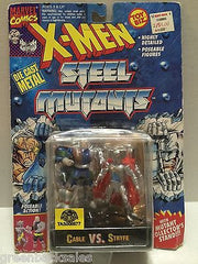 (TAS008577) - Toy Biz Marvel Comics X-Men Steel Mutants Figure - Cable vs Stryfe, , Action Figure, X-Men, The Angry Spider Vintage Toys & Collectibles Store