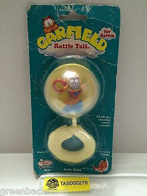(TAS000278) - Garfield Rattle Tail For Babies - Remco baby, , Baby, Remco, The Angry Spider Vintage Toys & Collectibles Store