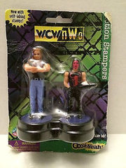 (TAS030490) - 1998 WCW Wrestling Figure Action Stampers - Nash & Sting, , Stampers, Wrestling, The Angry Spider Vintage Toys & Collectibles Store