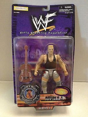 (TAS012578) - WWF WWE Wrestling Figure Jakks ShotGun Saturday Jeff Jarrett, , Action Figure, Wrestling, The Angry Spider Vintage Toys & Collectibles Store  - 1