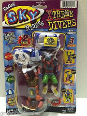 (TAS008473) - JARU Radical Sky Riders Xtreme Divers w/ Parachutes Figures, , Action Figure, JARU, The Angry Spider Vintage Toys & Collectibles Store