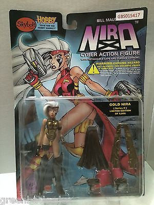 (TAS031591) - Skybolt NIRA Cyber Action Figure - Gold Nira, , Action Figure, n/a, The Angry Spider Vintage Toys & Collectibles Store
