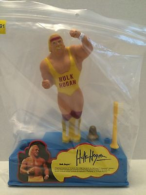 (TAS031377) - WWE WWF WCW Wrestling LJN Toothbrush Stand and Holder - Hulk Hogan, , Bath, WWF, The Angry Spider Vintage Toys & Collectibles Store