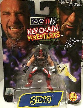 (TAS000688) - Toy Biz WWE WWF WCW NWO Keychain Wrestlers - Sting, , Keychain, Wrestling, The Angry Spider Vintage Toys & Collectibles Store