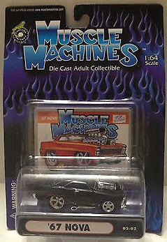 (TAS010246) - 2000 Muscle Machines Die Cast Collectible Car - '67 Nova, , Trucks & Cars, Muscle Machines, The Angry Spider Vintage Toys & Collectibles Store  - 1