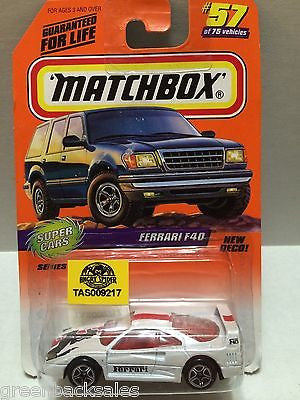 (TAS009217) - Matchbox Cars - Ferrari F40 #57, , Cars, Matchbox, The Angry Spider Vintage Toys & Collectibles Store