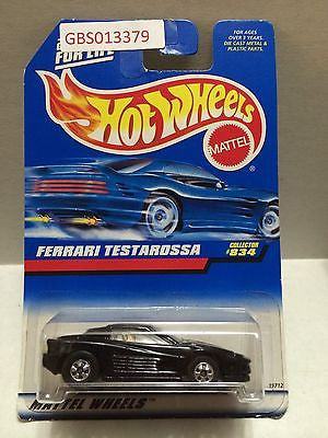 (TAS030922) - Mattel Hot Wheels Car - Ferrari Testarossa, , Cars, Hot Wheels, The Angry Spider Vintage Toys & Collectibles Store