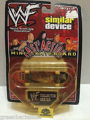 (TAS008297) - WWE WWF Fast Action Mini Skateboard - Stone Cold Steve Austin, , Action Figure, Wrestling, The Angry Spider Vintage Toys & Collectibles Store
