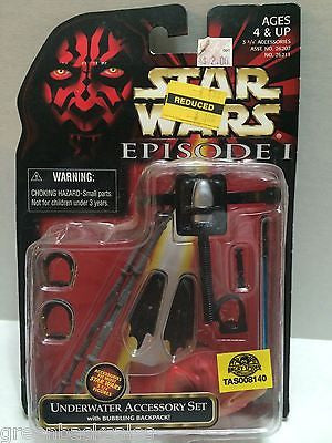 (TAS008140) - Hasbro Star Wars Episode 1 Underwater Accessory Set, , Action Figure, Star Wars, The Angry Spider Vintage Toys & Collectibles Store