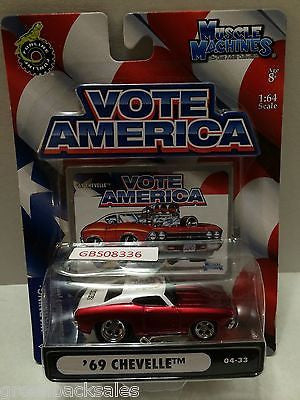 (TAS030812) - Funline Muscle Machines Vote America Die Cast Car - '69 Chevelle, , Cars, Muscle Machines, The Angry Spider Vintage Toys & Collectibles Store