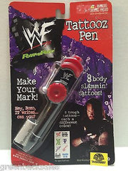 (TAS008587) - WWE WWF Power Penz Red Tattooz Pen - Undertaker, , Pen, Wrestling, The Angry Spider Vintage Toys & Collectibles Store