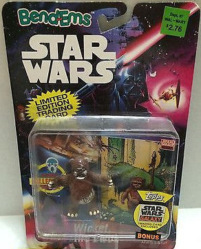 (TAS000538) - Star Wars Bend-Ems JusToys - Wicket, The Ewok, , Action Figure, Star Wars, The Angry Spider Vintage Toys & Collectibles Store