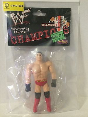 (TAS031471) - WWE WWF WCW JusToys Wrestling Bend-Ems - Shamrock, , Action Figure, Wrestling, The Angry Spider Vintage Toys & Collectibles Store