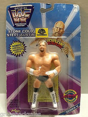 (TAS008602) - WWF Wrestling JusToys Bend-Ems Figure - Stone Cold Steve Austin, , Action Figure, Wrestling, The Angry Spider Vintage Toys & Collectibles Store