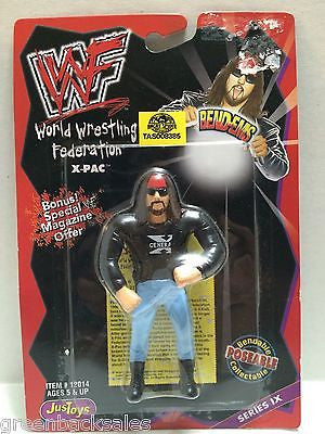 (TAS008385) - WWF WWE WCW nWo Wrestling JusToys Bend-Ems Action Figure - X-Pac, , Action Figure, Wrestling, The Angry Spider Vintage Toys & Collectibles Store